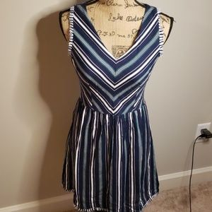 Skies are blue stripped dress